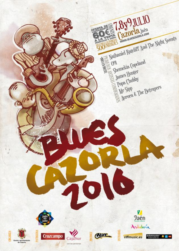 Blues Cazorla 2016 Cartel
