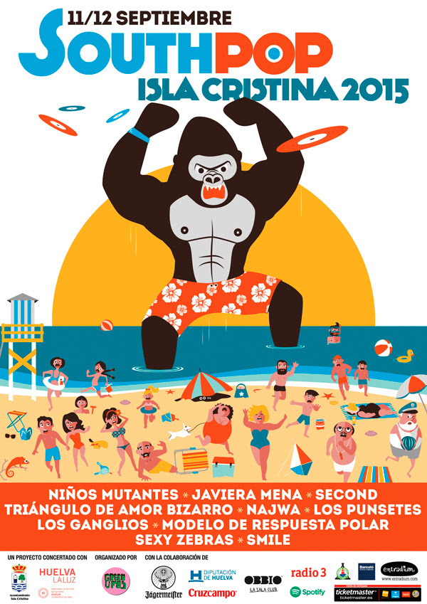 South Pop Isla Cristina 2015 Cartel