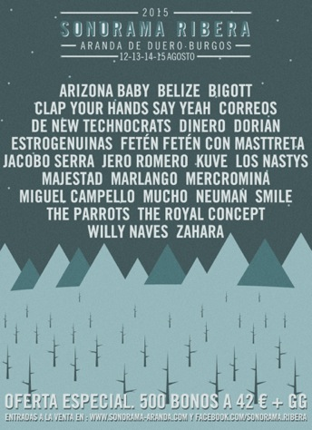 Sonorama 2015 Cartel